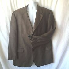 Mark Shale Size 48 Brown Three Button Sport Coat Blazer Suit Jacket Lined
