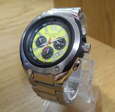 Mens Bulletproof Ballistic Silver Yellow Dial Cyclone Chrono Watch BWC104 New