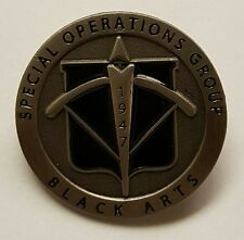 CIA NCS / DO SAD SOG Special Operations Group Black Arts 1947 Lapel / Hat Pin 1""