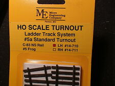Micro- Engineering #14-710 HO LADDER TRACK SYSTEM TURNOUT LH #5a Code 83