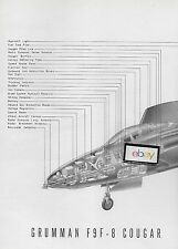 GRUMMAN AIRCRAFT 1954 F9F-8 COUGAR US AIR FORCE 2 PG CUTAWAY DRAWING MCLARREN
