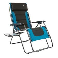 FC630-68080XL Extra Large Charcoal Gray & Blue Steel Padded Zero Gravity Chair