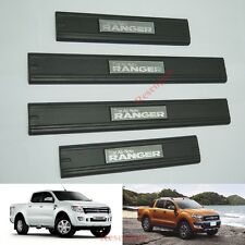 MATT BLACK 4 DOOR SCUFF PLATE FOR FORD RANGER T6 UTE WILDTRAK PICKUP 2012 ONWARD