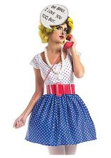 Womens Pop Art Cutie Costume size Medium 8-10 (with defect)