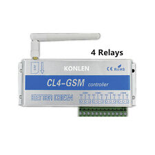 4 Way GSM Relay Switch Controller SMS Call Remote Control On OFF Home Light Door
