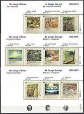 Canada 1995 Sc# 1559 - 1561 S/S MNH Group of Seven sheet set