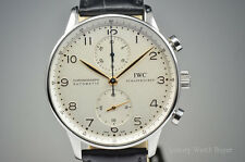 Mens IWC Portuguese Automatic Chronograph Stainless Steel Watch IW371401