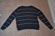 NAUTICA 100% Authentic Men's Striped Sweater Black Size M MSRP $60