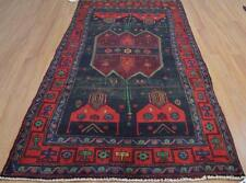 4'2x8'9 Geometric Genuine S Antique Persian Bijar Tribal Oriental Wool Area Rug