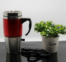 USB adapter 12V Car Heated Mug Stainless Steel Travel Electric Cup Kettle 3-