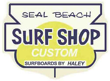 Seal Beach Surf Shop, CA    Vintage-Style Travel  Decal