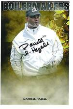 Darrell Hazell AUTOGRAPH PURDUE BOILERMAKERS 6X4 PHOTO SIGNED