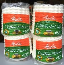 2400 (600 X 4) Melitta 61280-63B Basket Paper Coffee Filters for 8-12 Cup Brewer