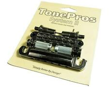 TonePros LPBM02 Locking METRIC Tune-o-matic Bridge & Tailpiece Set BLACK