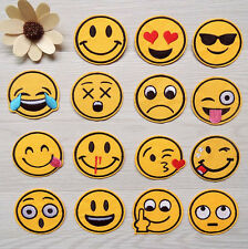 7pcs Emoji Exaggerated Expression Iron on Sew on Patches Embroidered Badge