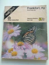 1981 Telephone PHONE BOOK DIRECTORY Frankfort Kentucky Ky