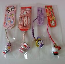 LOTS OF 4 HELLO KITTY Millinery Lolita * Charms Mascot Phone Straps