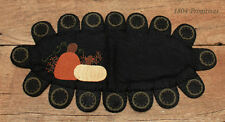 """19"""" Primitive Pumpkins and Bittersweet PENNY Runner/Candle Mat"""