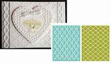 Elegant Embossing Folders WHIMSY Lifestyle Crafts EF0002 wedding anniversary 2PC