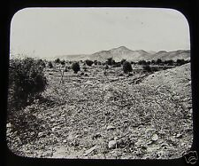 Glass Magic Lantern Slide GILGAL C1890 ISRAEL .