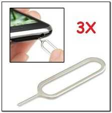 3x Sim Card Tray Remover Eject Pin Key Tool for iPhone 4S 4G 3GS 3G 5 USA