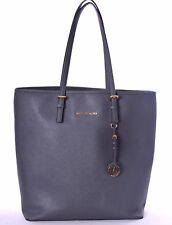 MICHAEL KORS Jet Set Travel Gray Saffiano Tote Bag Large EUC