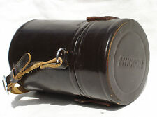 Genuine vintage medium size NIKON NIKKOR  Leather LENS  CASE only  #C3