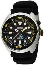 NEW MENS SEIKO PROSPEX GMT KINETIC 200M DIVERS ANALOG SAPPHIRE WATCH SUN021P1