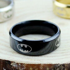 10mm Band Batman Man Ring Women Men Unisex Stainless Steel Titanium Ring Size 13