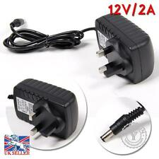 24W 12V 2A AC/DC Power Supply Adaptor 3 PIN UK Plug Fr LED 3528 5050 Strip Light
