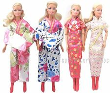 4x Princess Barbie Dresses Cheongsam & Kimono Clothes Party Gowns For Doll Toy