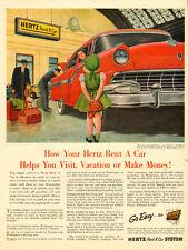 1955 vintage AD, HERTZ Rent A Car, illustration by pinup artist Al Moore  051514