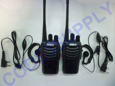 Ear Bud Headset & 2 Way Radio/Walkie Talkie Package for Restaurant Retail Bar