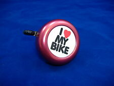 I LOVE MY BIKE RED BICYCLE BELL RINGER BIKE
