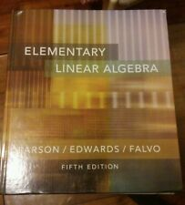 Elementary Linear Algebra by Ron Larson and Bruce H. Edwards, 5th Edition