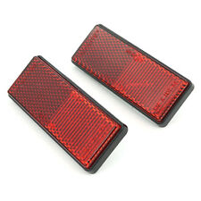 1pcs Square Red Reflectors Universal For Motorcycles ATV Bikes Dirt Bike Motor