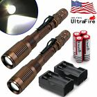 2x3000Lumen Tactical T6 LED Flashlight Torch+Rechargeable 18650 Battery&Charger