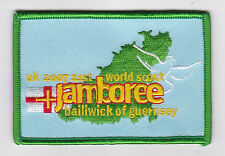 2007 World Scout Jamboree UK / BRITISH GUERNSEY SCOUTS Contingent Patch (GREEN)