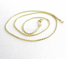 Men Unisex New 14K Yellow Gold Plated 45cm Spring Ring Clasp Chain Necklace Xmas