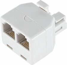 GE Standard Duplex Phone Male to 2 Female Wall Jack Adapter USA SELLER..NEW!
