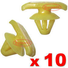 SKODA OCTAVIA DOOR WEATHERSTRIP TRIM MOULDING CLIPS LOWER BOTTOM SEAL Yellow