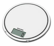 Salter 1080 Electronic Digital Mono Round Glass Platform Kitchen Scales