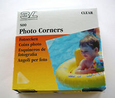 500 PRO TRANSPARENT CLEAR PHOTO CORNERS ACID FREE SELF ADHESIVE HIGH QUALTY