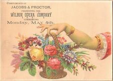 Victorian Trade Card-Jacobs & Proctor's Academy of Music-Opera-Rochester, NY