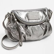 MARC BY MARC JACOBS Classic Q Natasha Mini Gunmetal Leather Crossbody Bag NEW