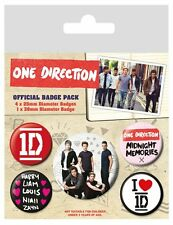 ONE DIRECTION band - BUTTON BADGE PACK - SET OF 5 official merchandise