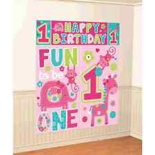 One Wild Girl 1st Birthday Party Backdrop Scene Setters Wall Decorating Kit