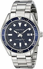 Nautica NAD12518G NAC 103 Blue Dial Stainless Steel Men's Watch
