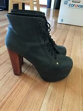 Jeffrey Campbell Lita Platform Black Boot size 8.5