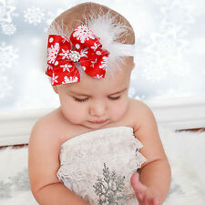 Newly Baby Toddler Infant Kids Girl Fur Big Bow Hair Band Headband Accessories